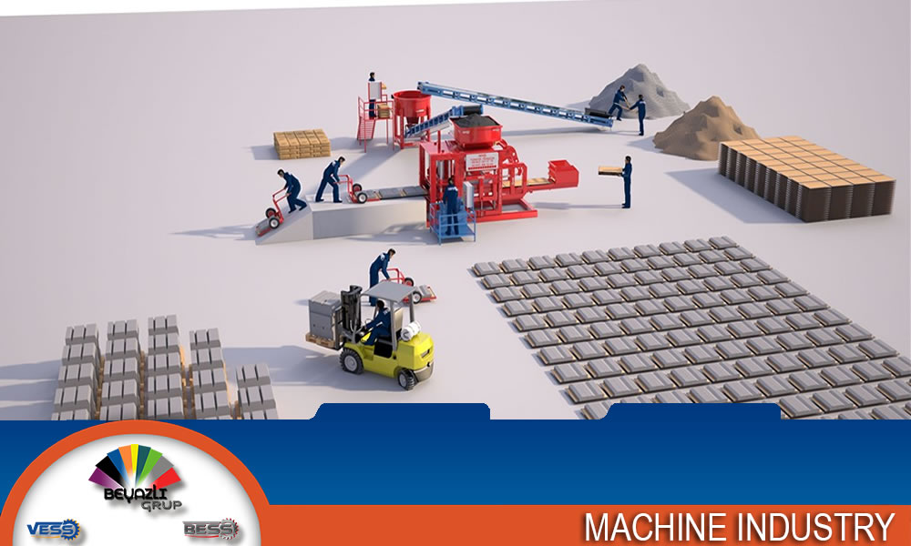 Semi-Automatic-Machine-For-Producing-Concrete-Blocks